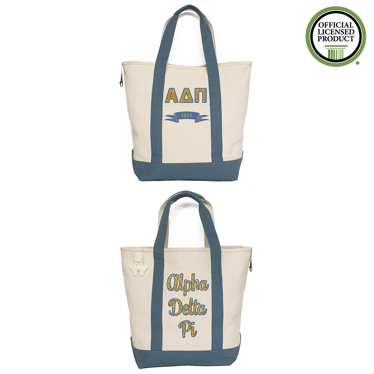 Alpha Delta Pi Comfort Colors Tote Bag | Brit and Bee