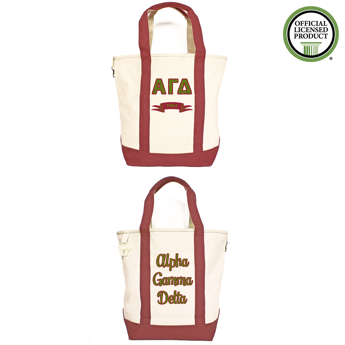 Alpha Gamma Delta Comfort Colors Tote Bag | Brit and Bee