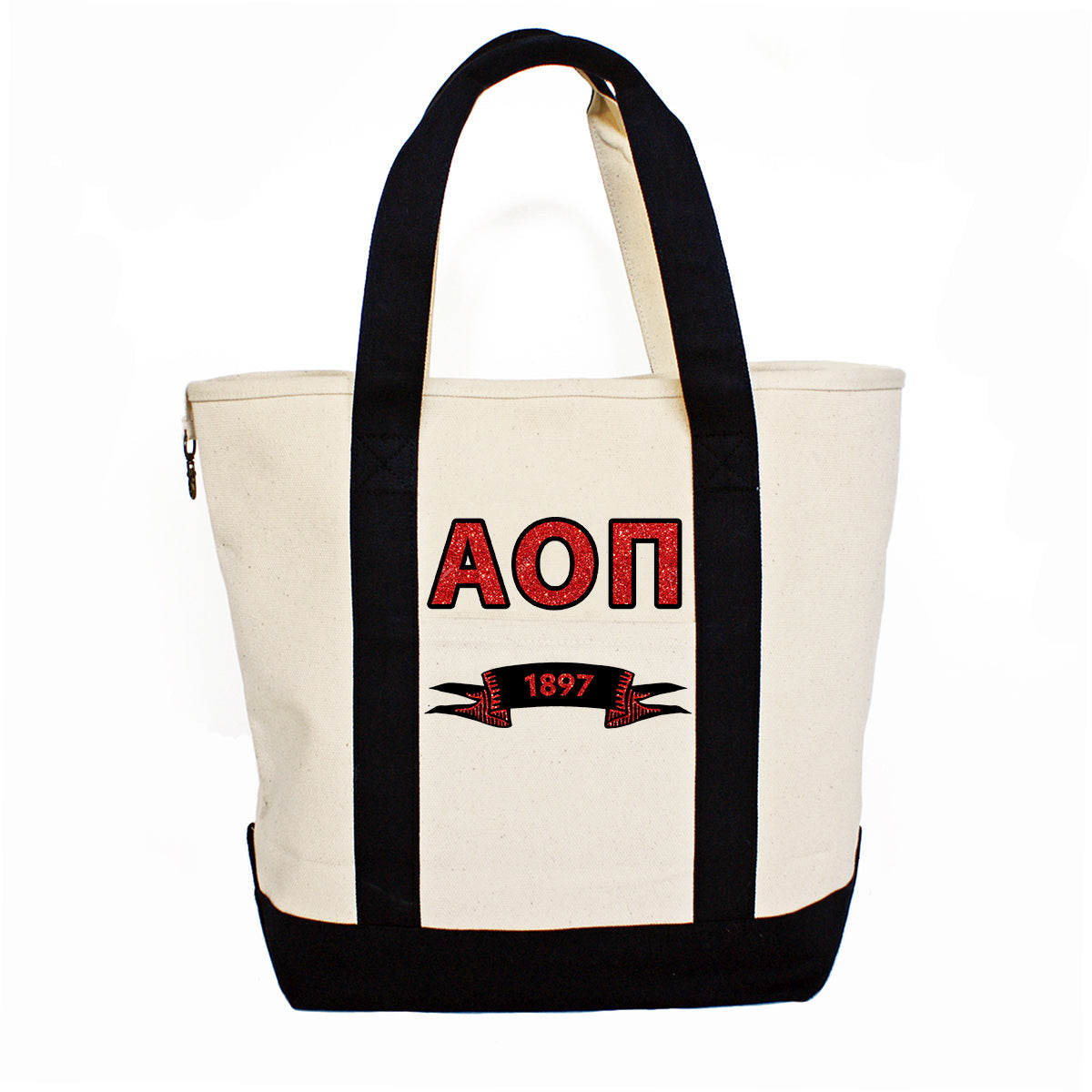 Alpha Omicron Pi Comfort Colors Tote Bag | Brit and Bee