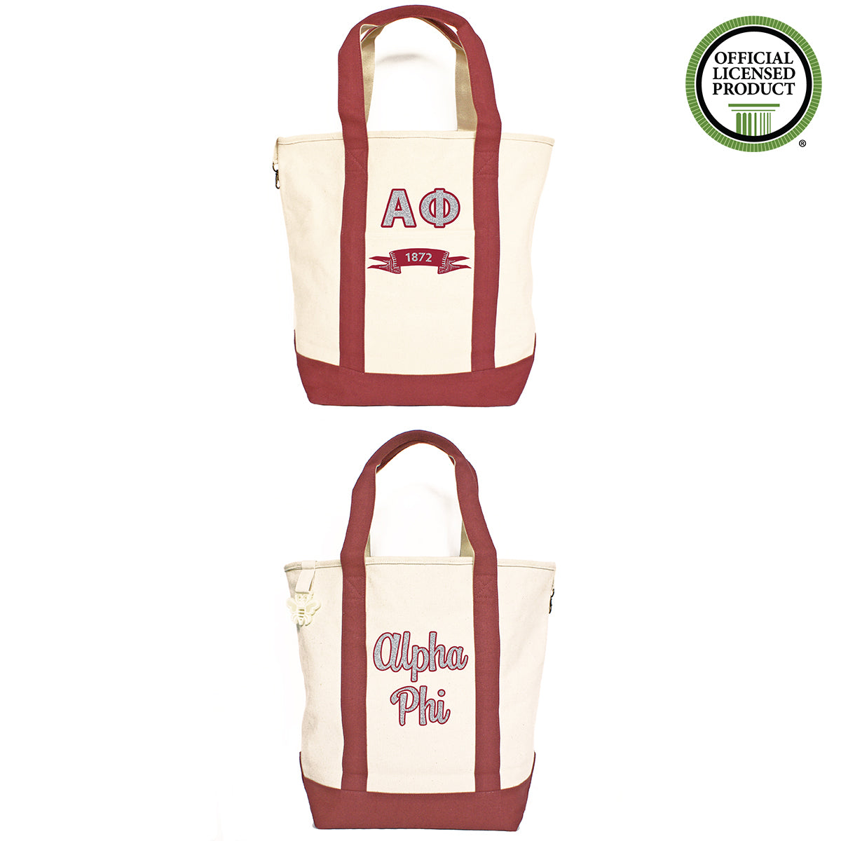 Alpha Phi Comfort Colors Tote Bag | Brit and Bee