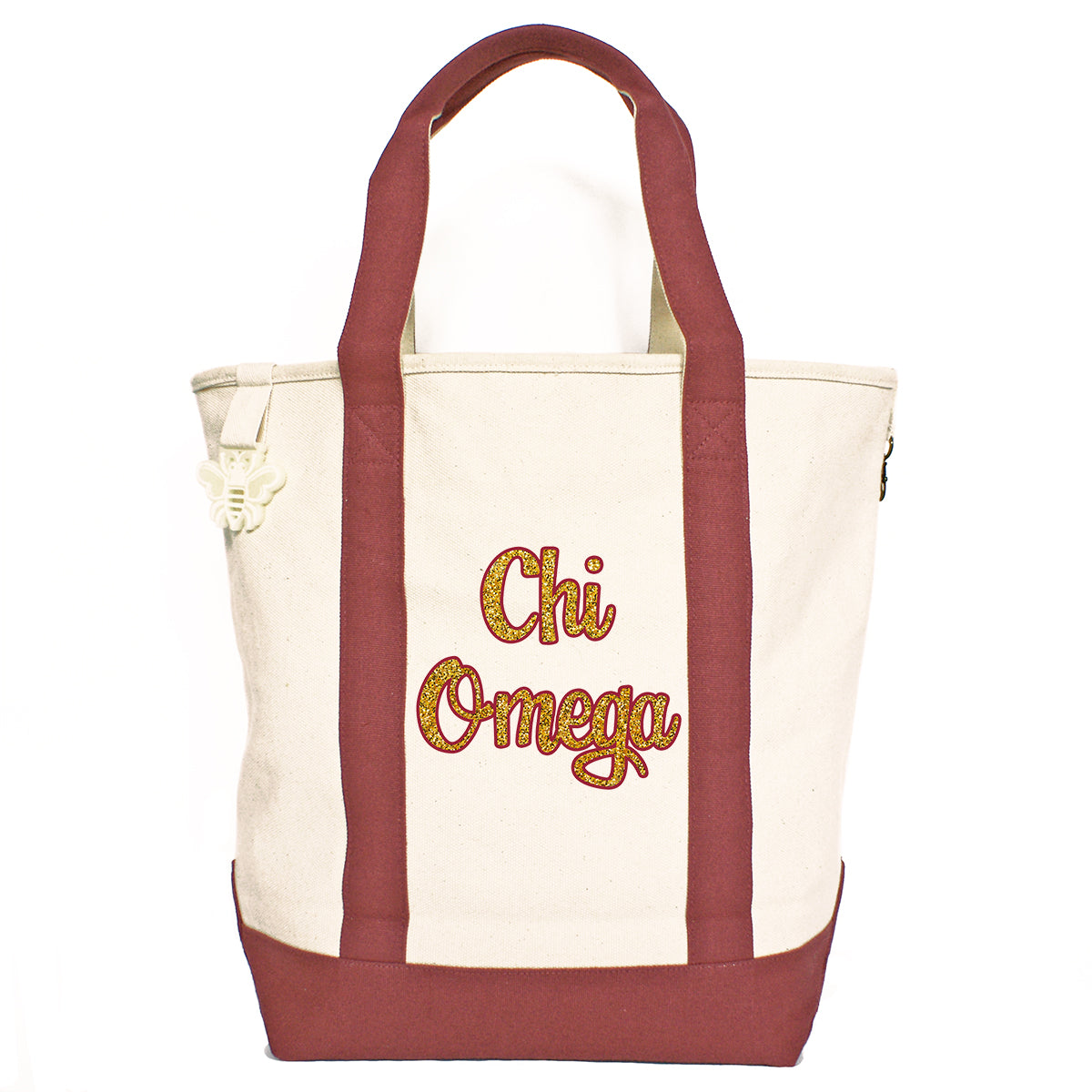 Chi Omega Comfort Colors Tote Bag | Brit and Bee