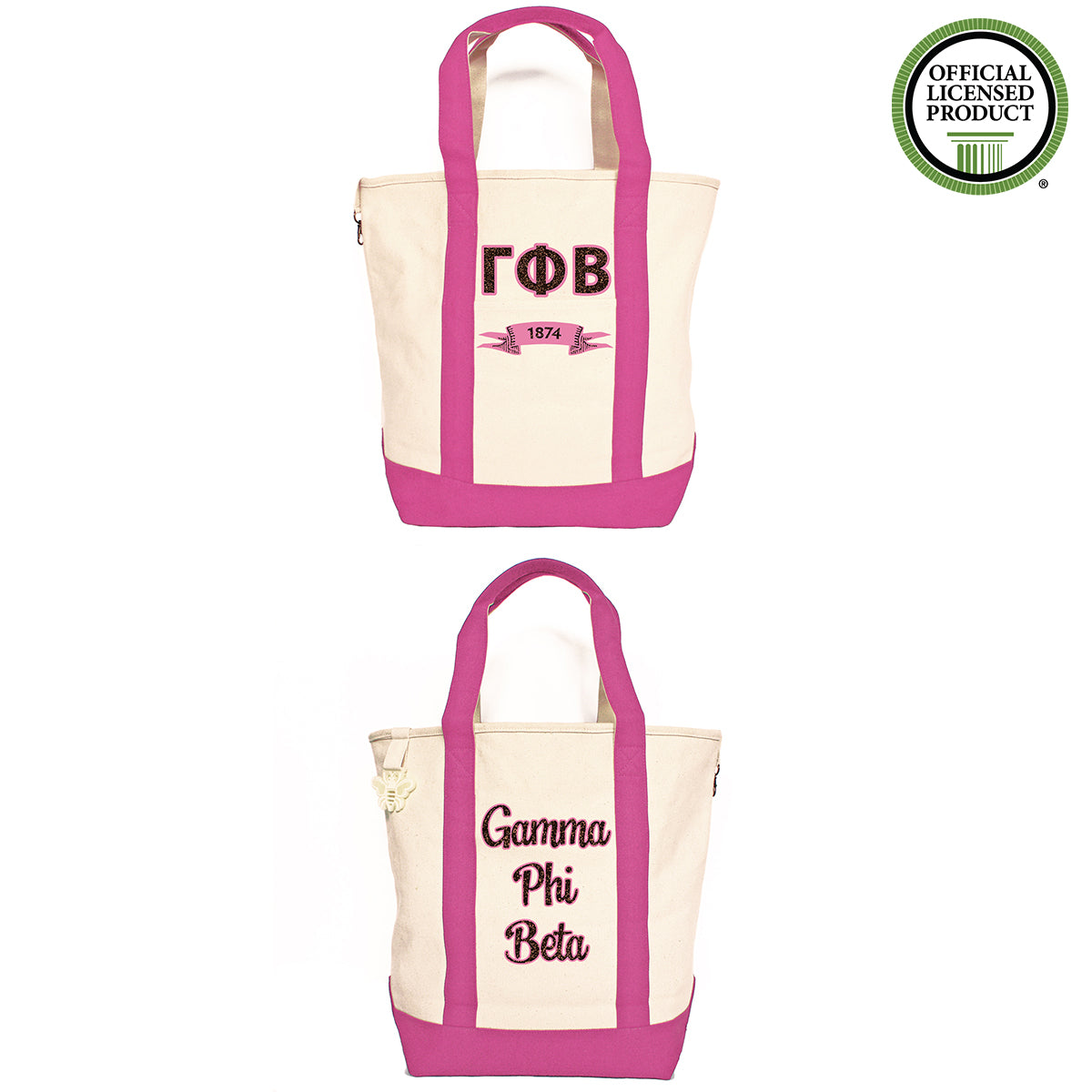 Gamma Phi Beta Comfort Colors Tote Bag | Brit and Bee