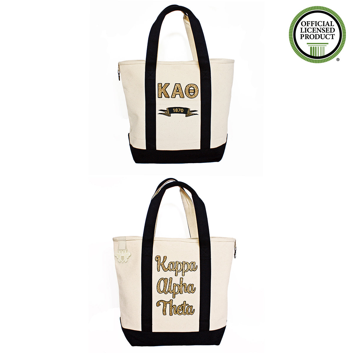 Kappa Alpha Theta Comfort Colors Tote Bag | Brit and Bee