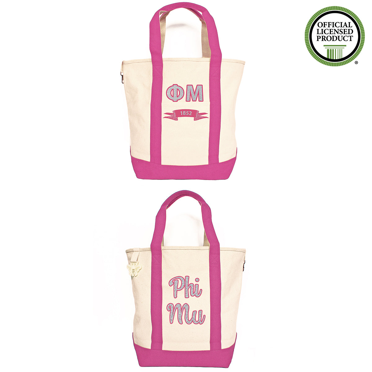 Phi Mu Comfort Colors Tote Bag | Brit and Bee