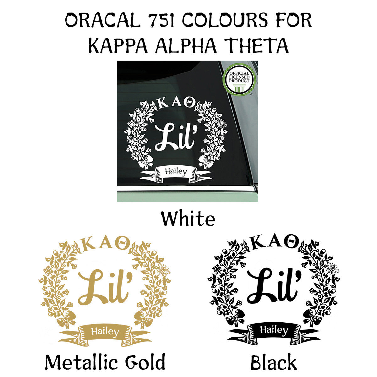 Brit and Bee Sorority Lil' Decal - Kappa Alpha Theta