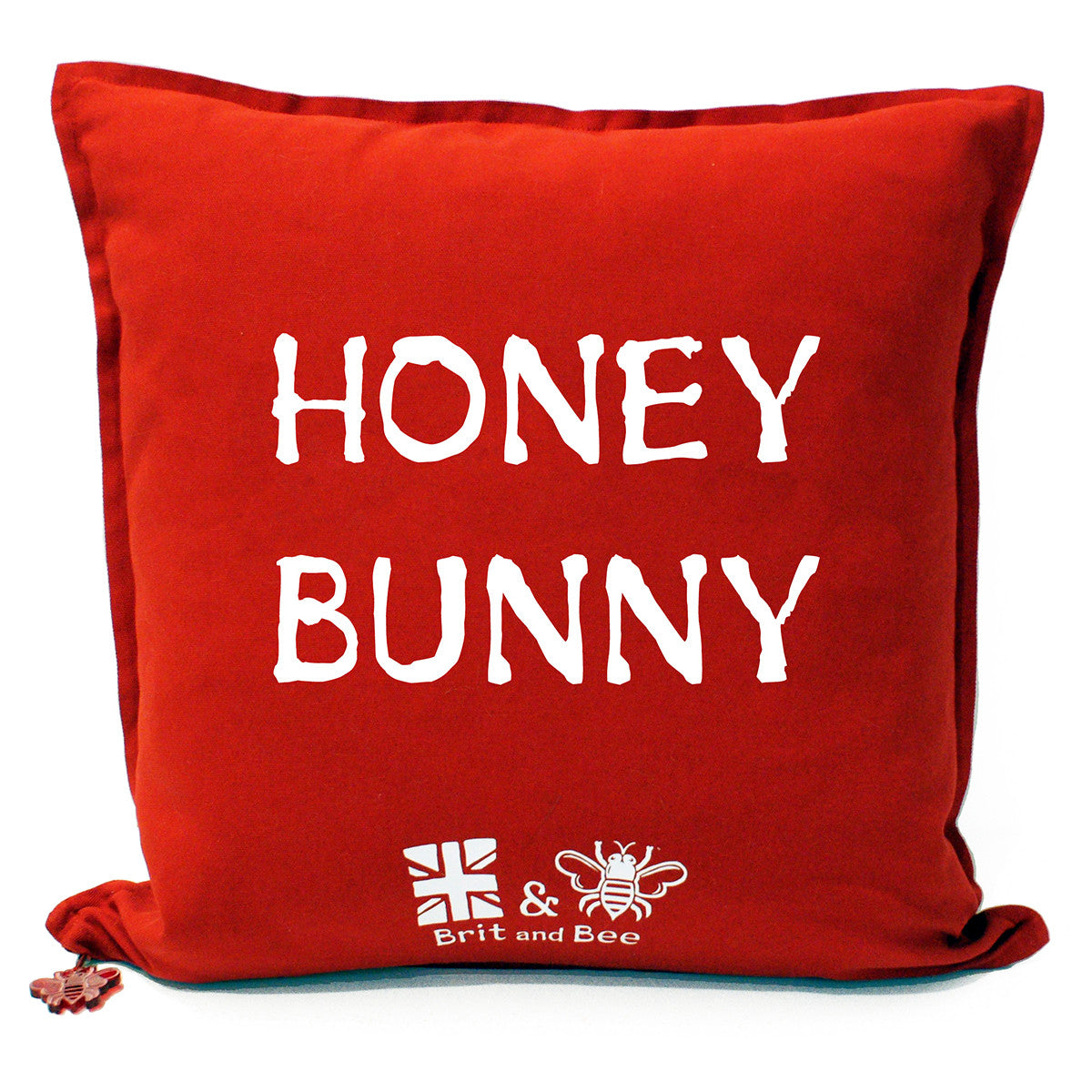 Brit and Bee Love Heart Cushion - Back