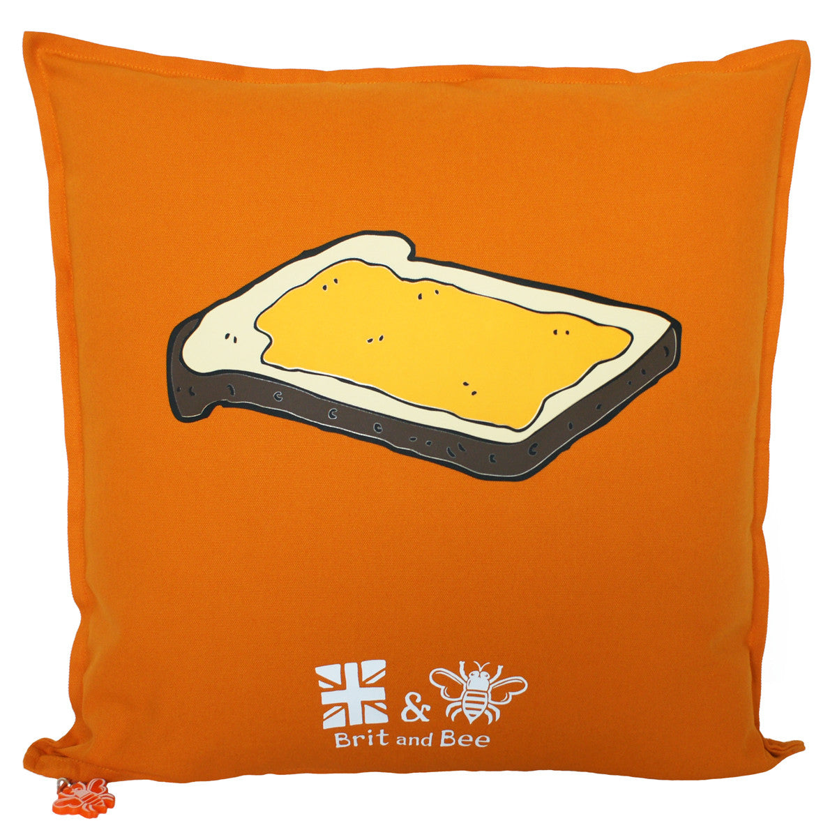Brit and Bee Marmalade and Toast Throw Pillow - BACK