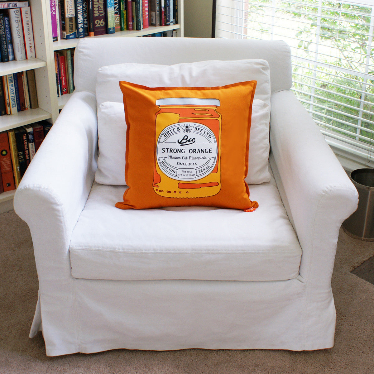 Brit and Bee Marmalade and Toast Throw Pillow - FRONT