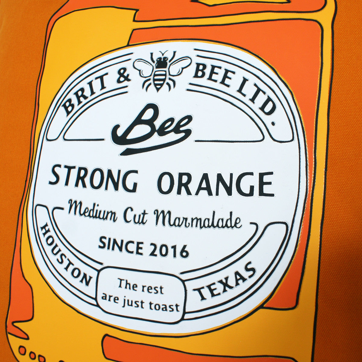Brit and Bee Marmalade and Toast Throw Pillow - DETAIL