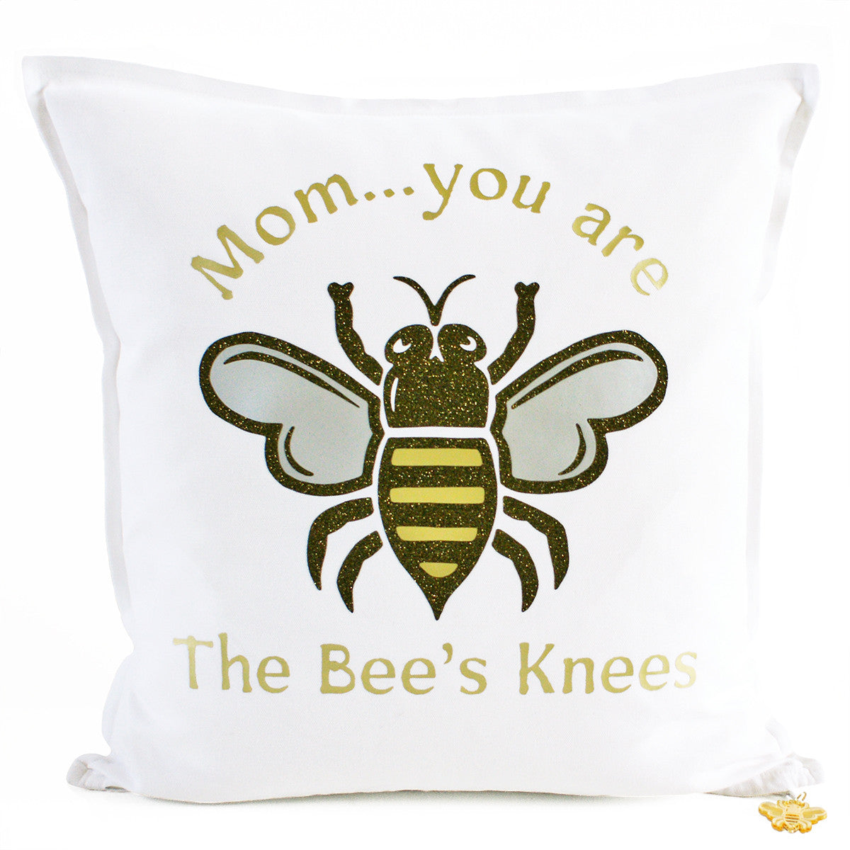 Brit and Bee Bee's Knees Throw Pillow - Mom