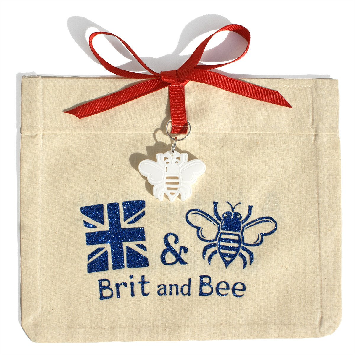 Brit and Bee Love the Flag Ornament Bag