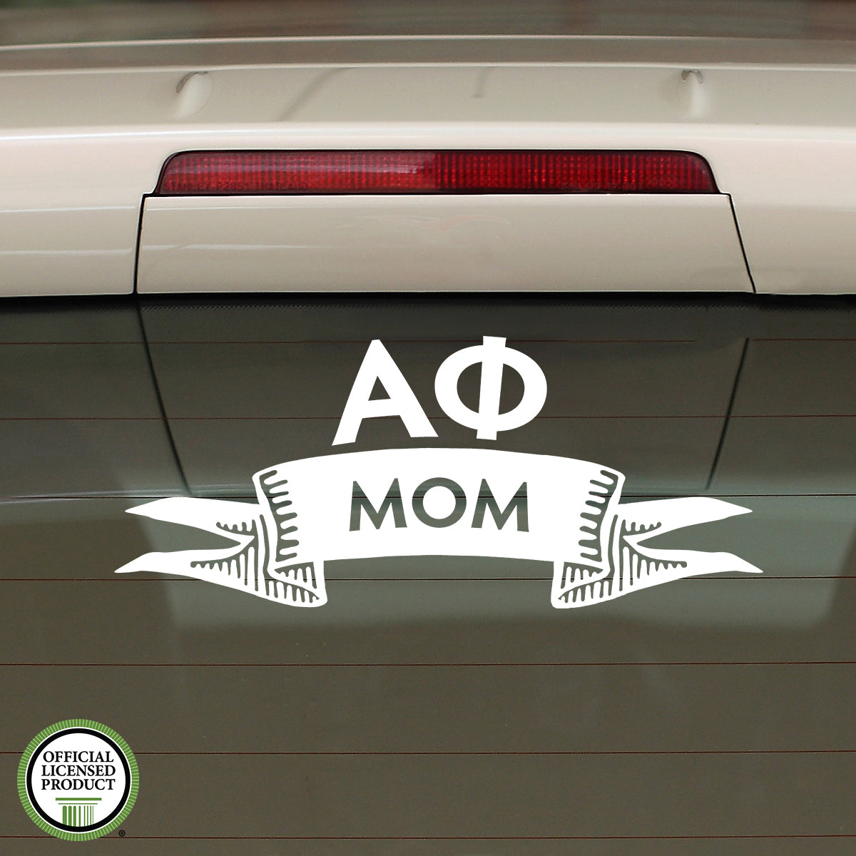Brit and Bee Sorority Ribbon Mom Decal - Alpha Phi