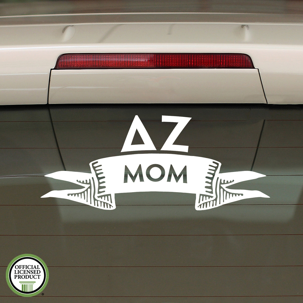 Brit and Bee Sorority Ribbon Mom Decal - Delta Zeta