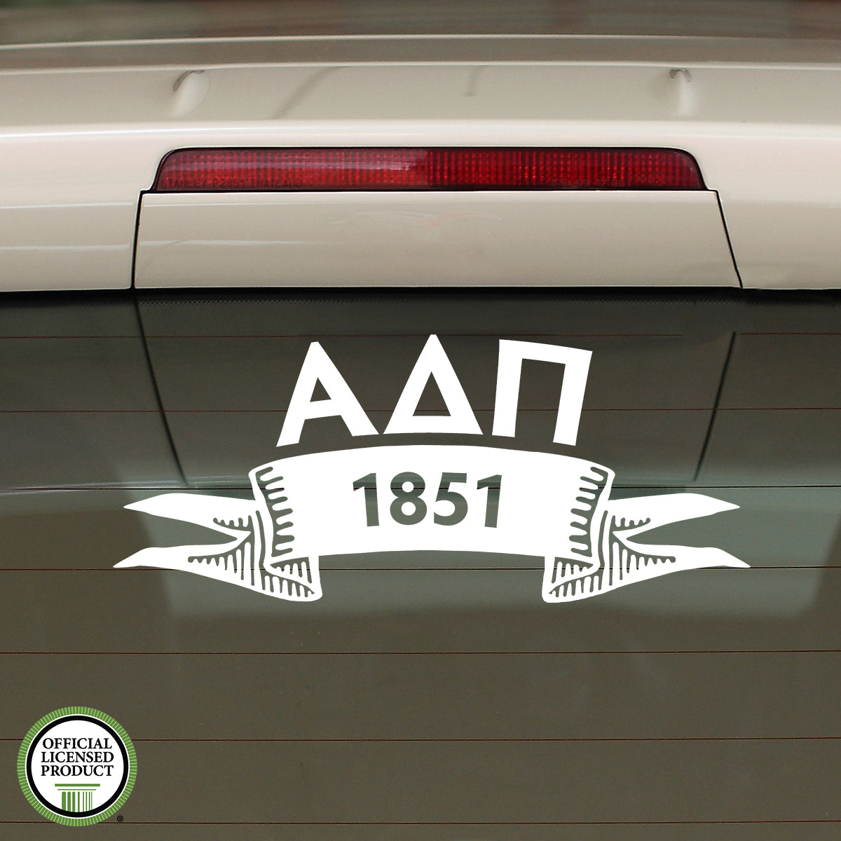 Brit and Bee Sorority Ribbon Year Decal - Alpha Delta Pi
