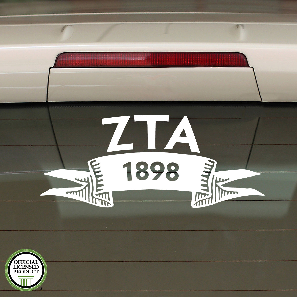Brit and Bee Sorority Ribbon Year Decal - Zeta Tau Alpha