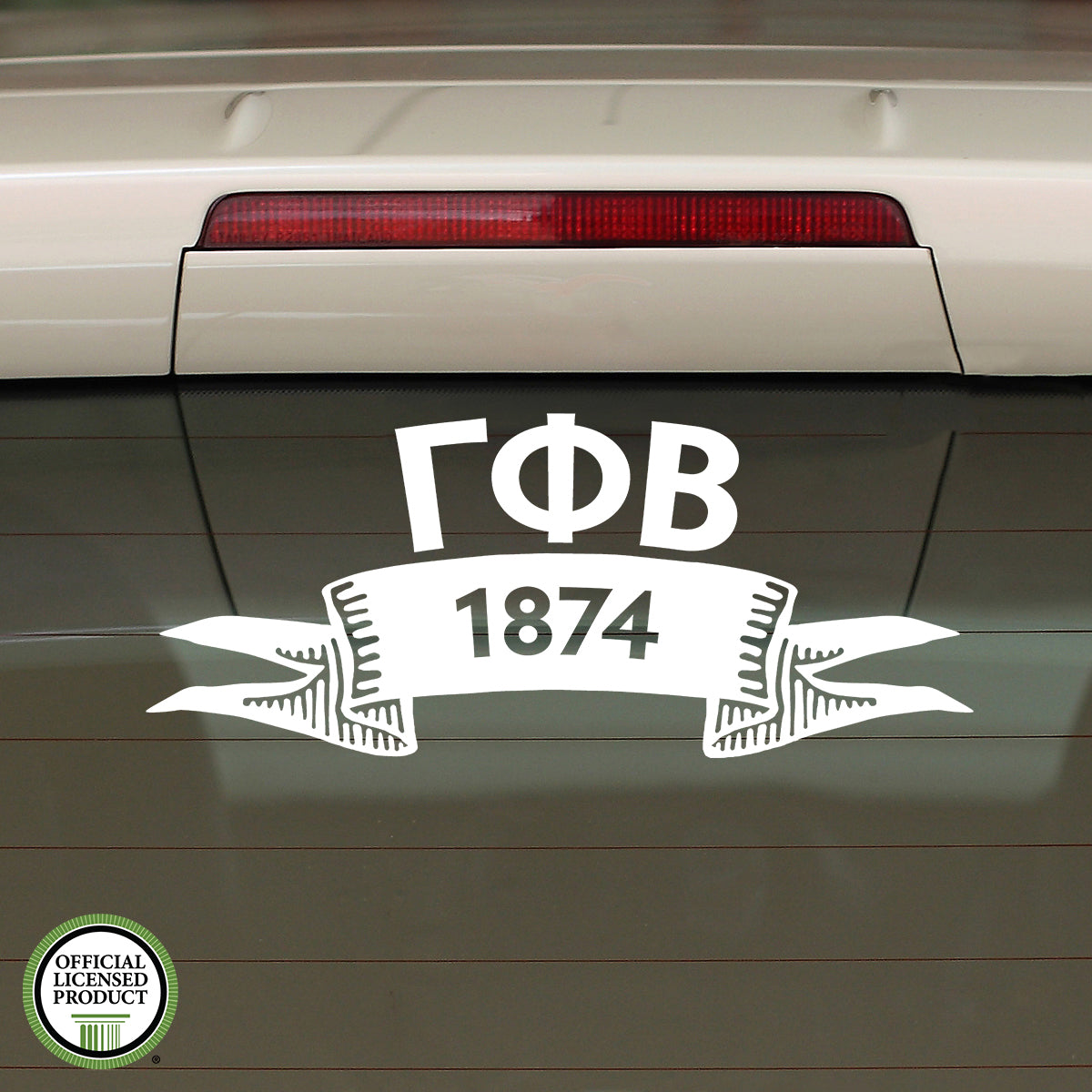 Brit and Bee Sorority Ribbon Year Decal - Gamma Phi Beta