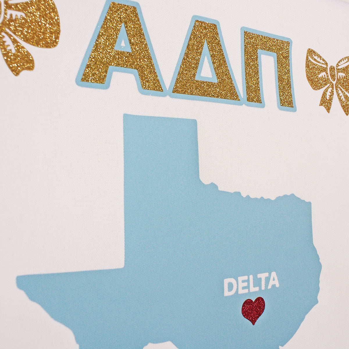 Sorority Chapter Pennant Flag - Alpha Delta Pi