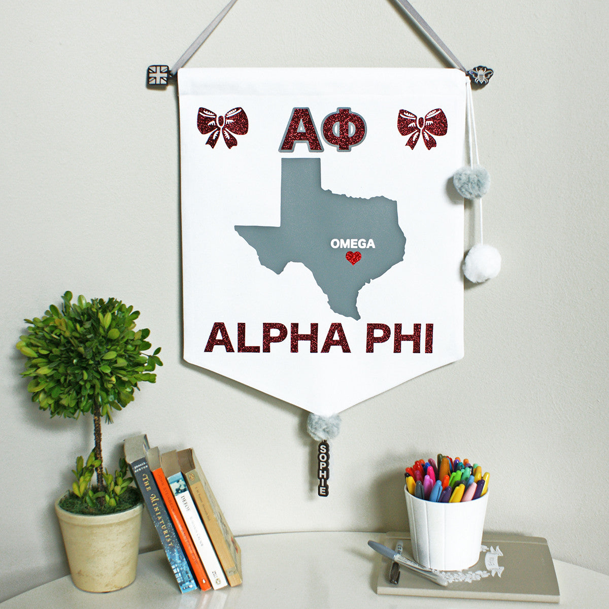 Sorority Chapter Pennant Flag - Alpha Phi