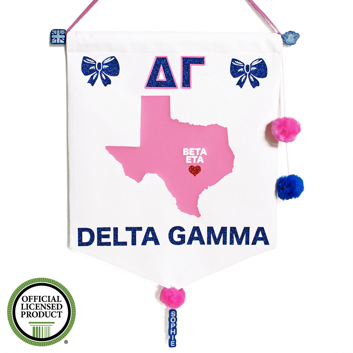 Sorority Chapter Pennant Flag - Delta Gamma