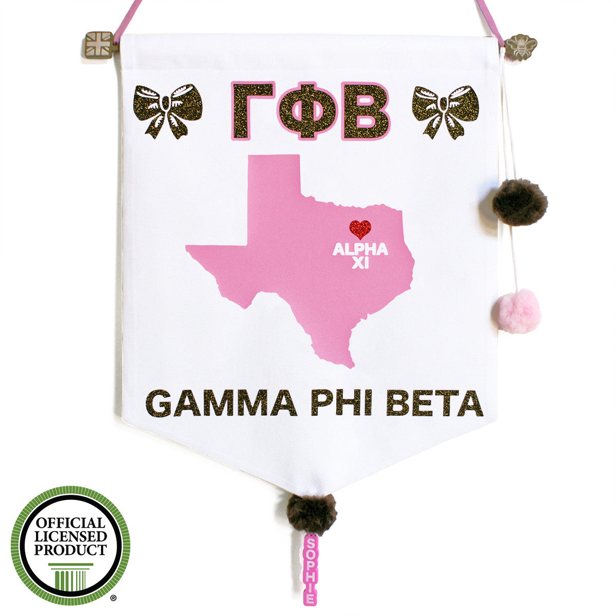 Sorority Chapter Pennant Flag - Gamma Phi Beta