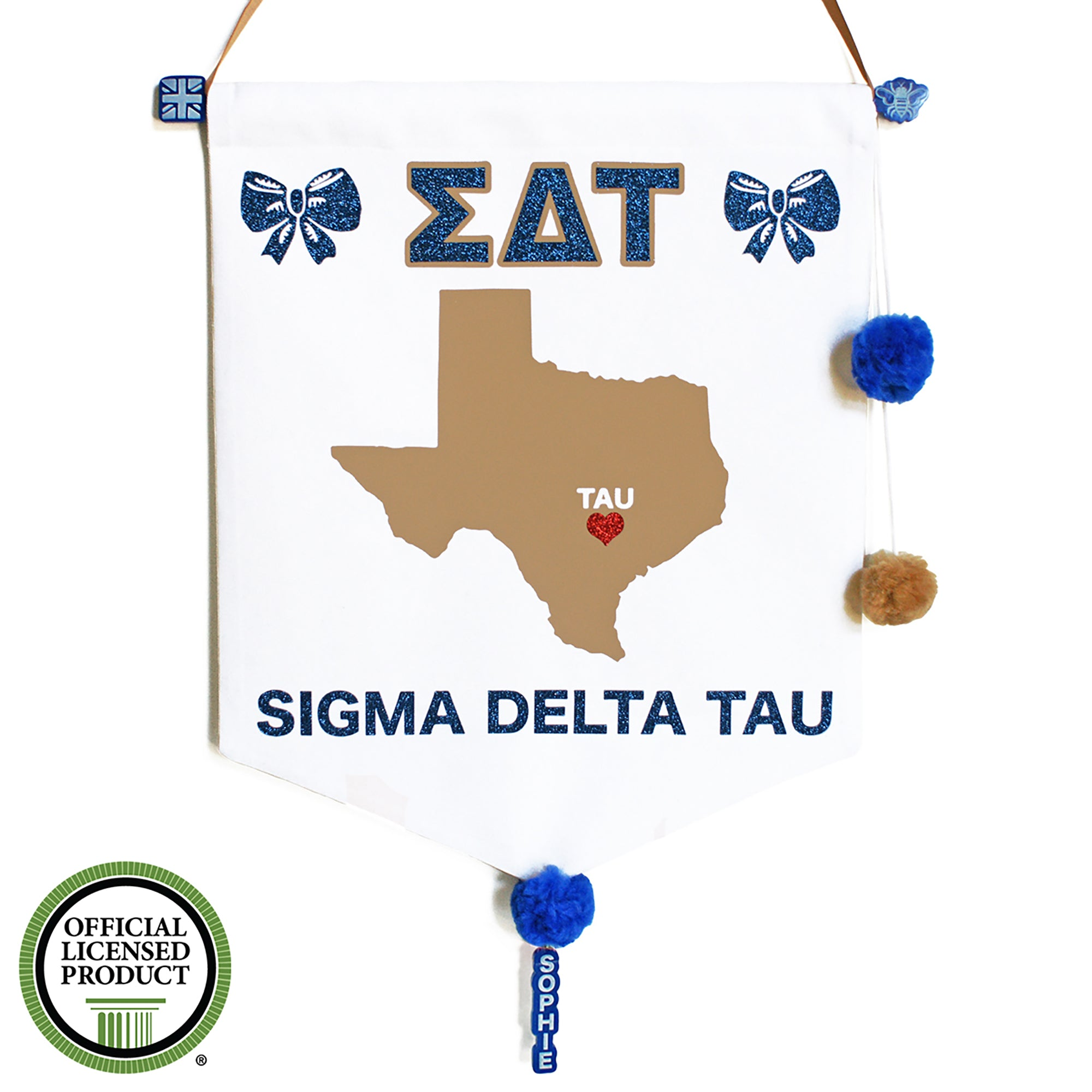 Sorority Chapter Pennant Flag - Sigma Delta Tau