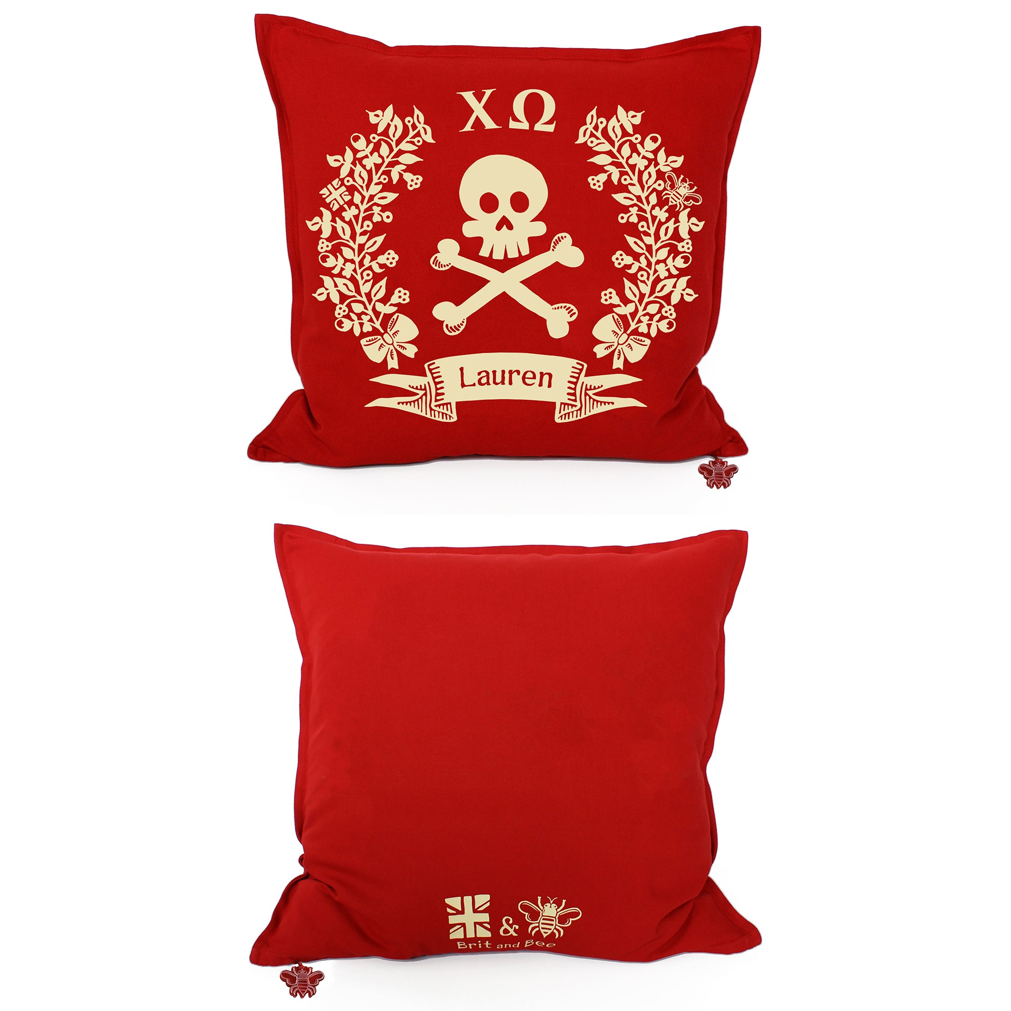 Chi Omega Pillow | Brit and Bee