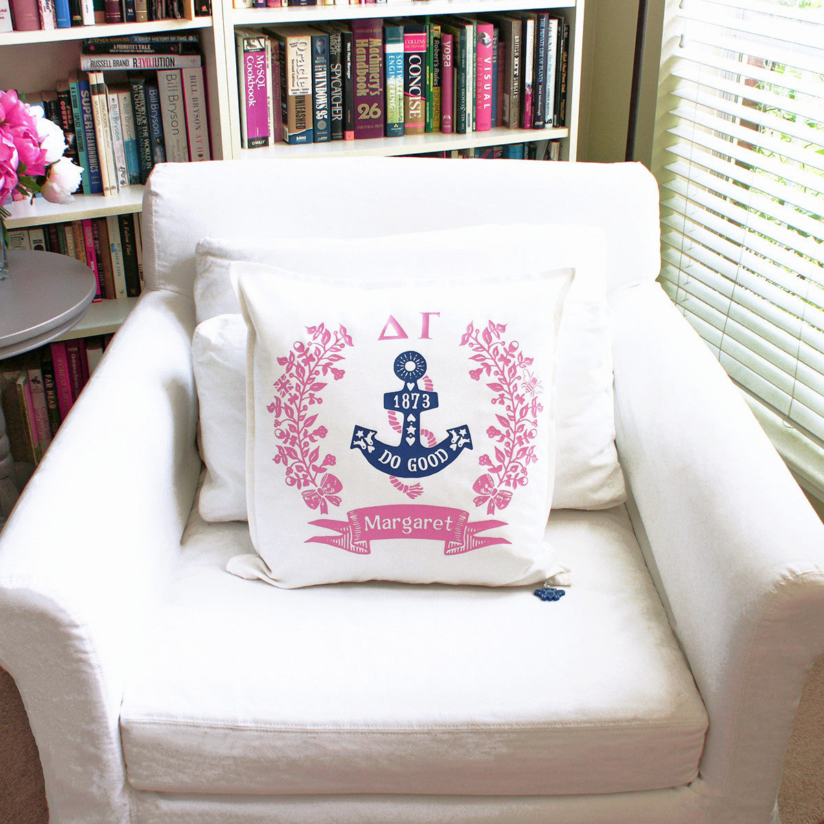 Delta Gamma Throw Pillow - Sorority Logo