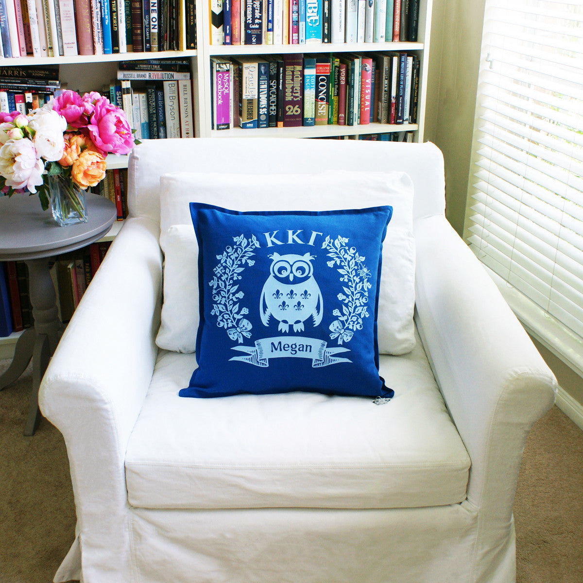 Brit and Bee Sorority Logo Throw Pillow - Kappa Kappa Gamma