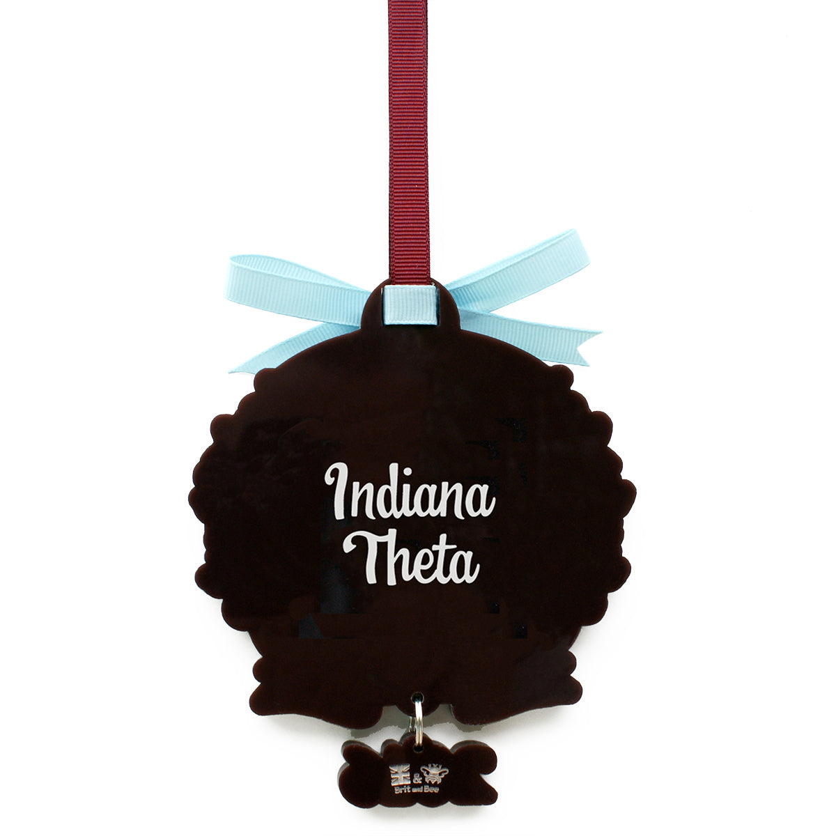 Brit and Bee Sorority Logo Ornament - Pi Beta Phi