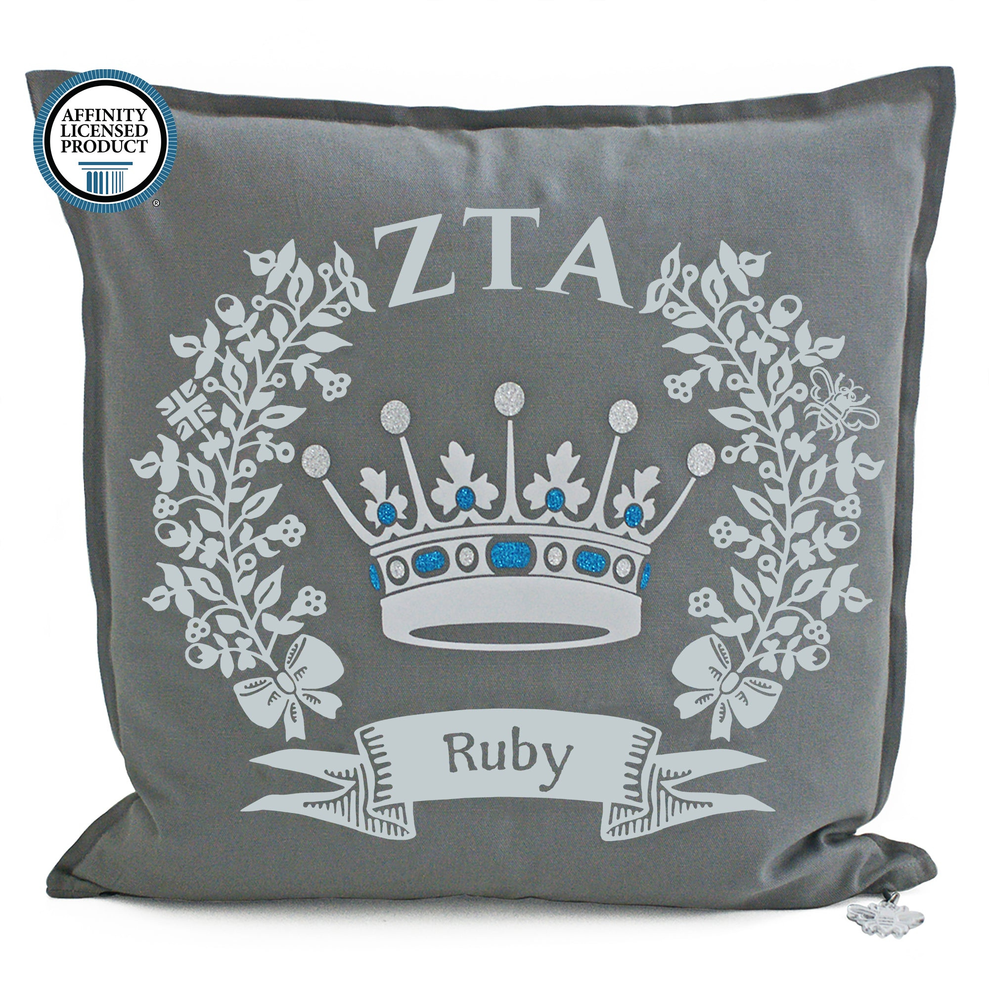 Zeta Tau Alpha Pillow | Brit and Bee