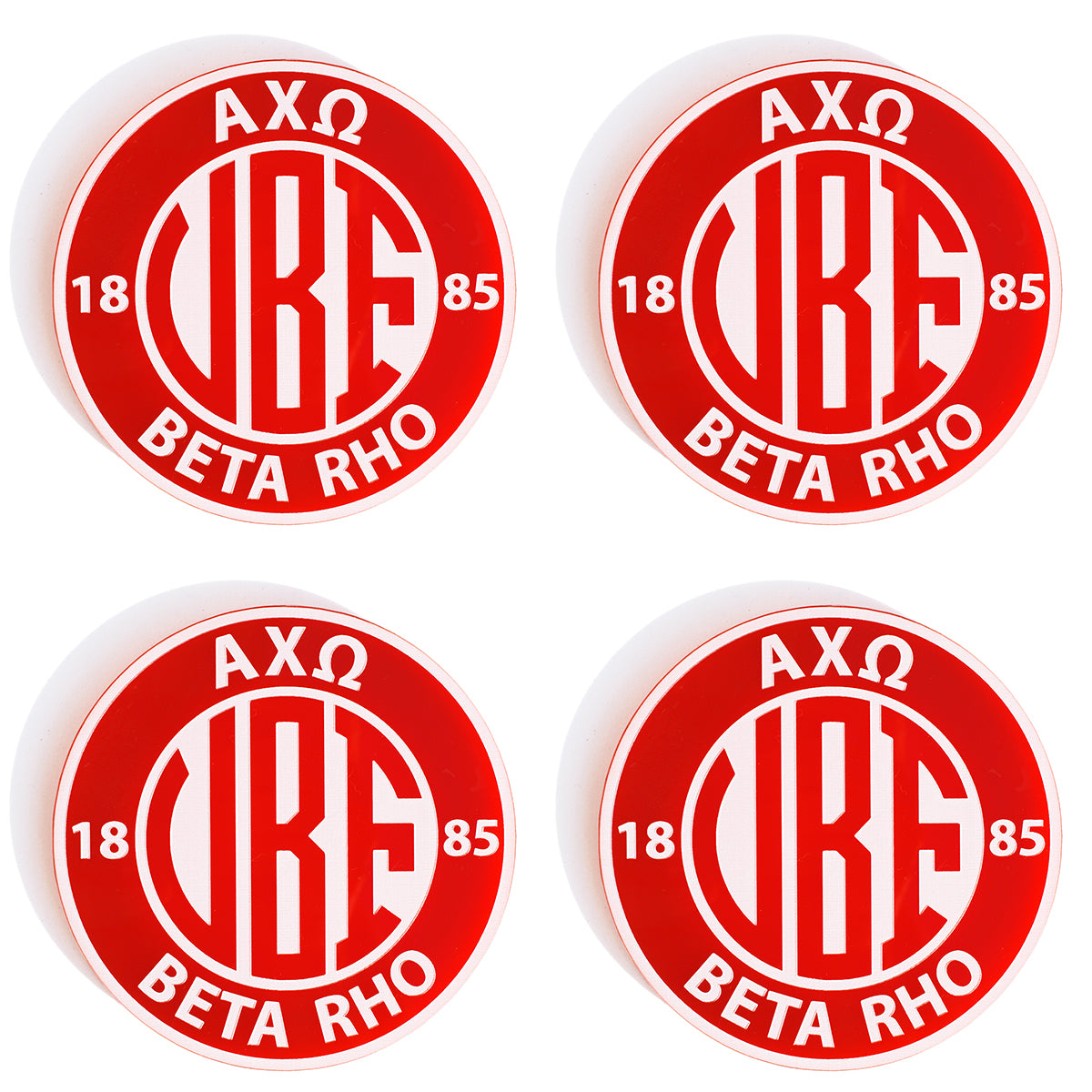 Brit and Bee Sorority Monogram Coaster - Alpha Chi Omega