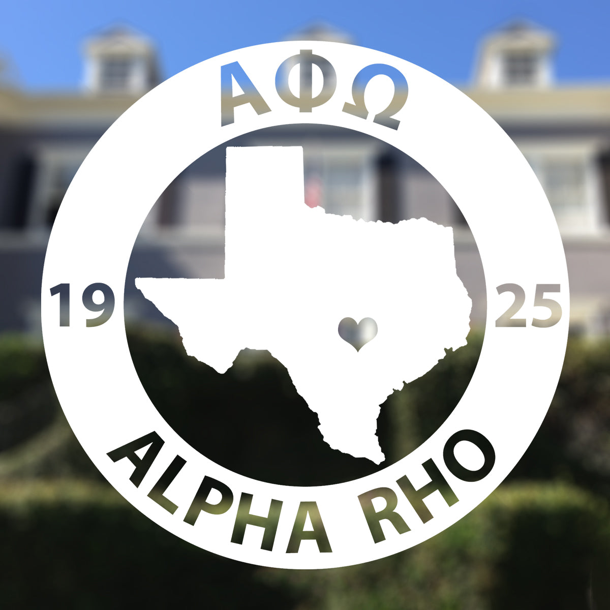 Brit and Bee Sorority State Decal - Alpha Phi Omega