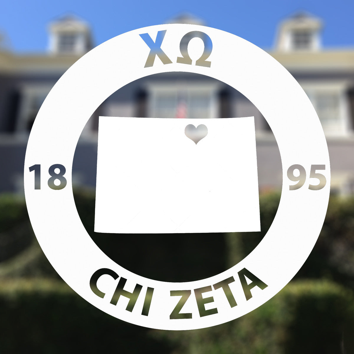 Brit and Bee Sorority State Decal - Chi Omega