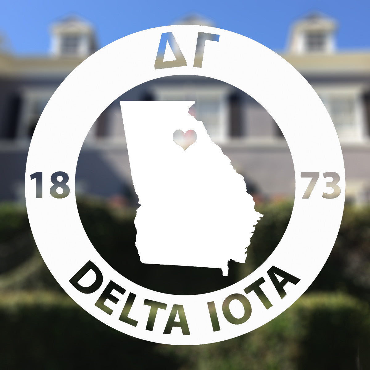 Brit and Bee Sorority State Decal - Delta Gamma