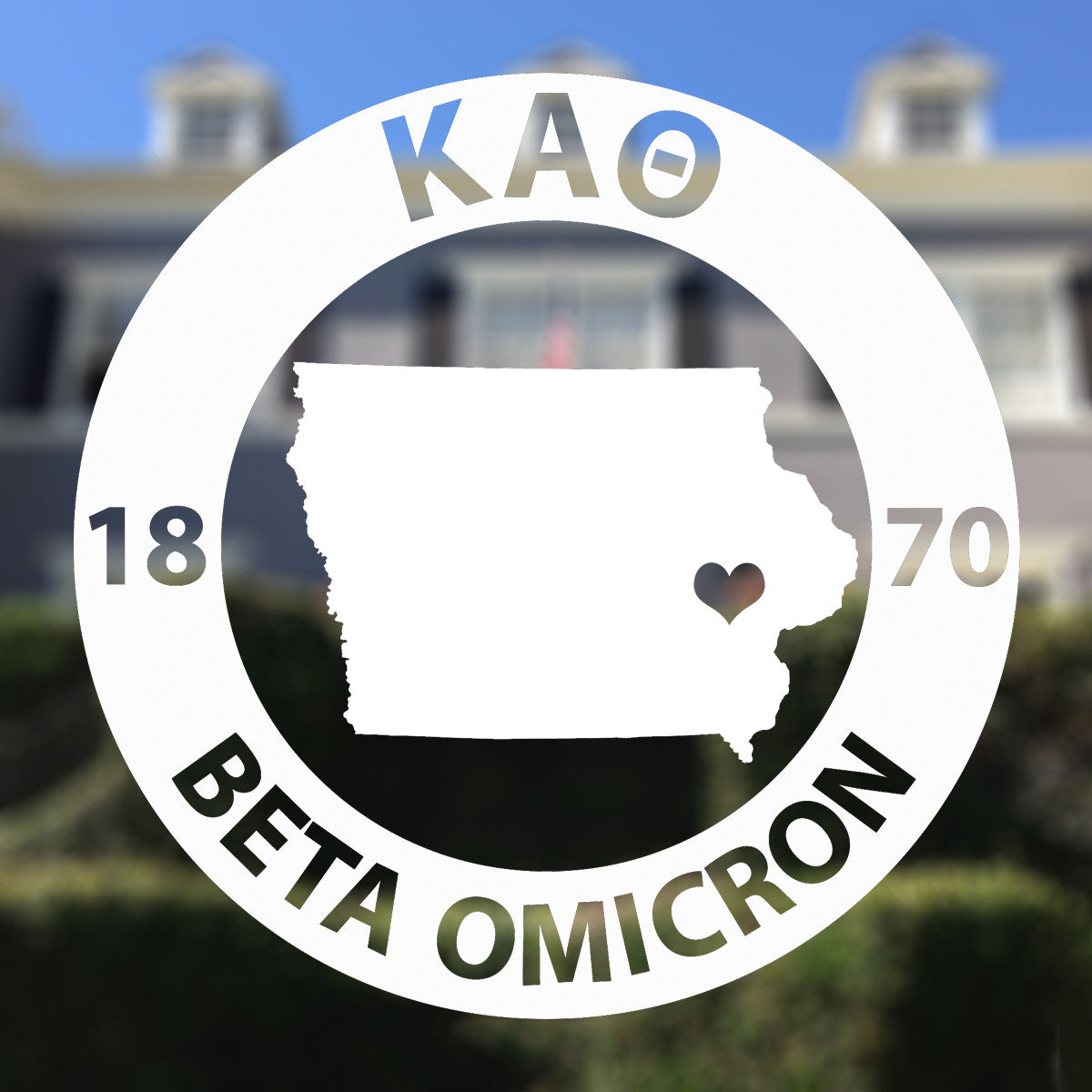 Brit and Bee Sorority State Decal - Kappa Alpha Theta