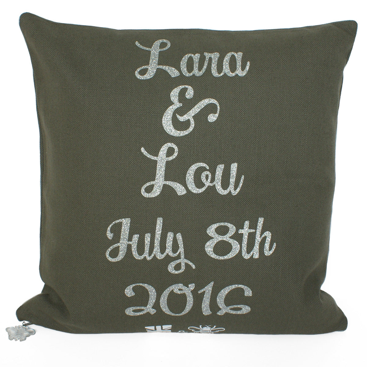 Brit and Bee Wedding Knot Throw Pillow - BACK