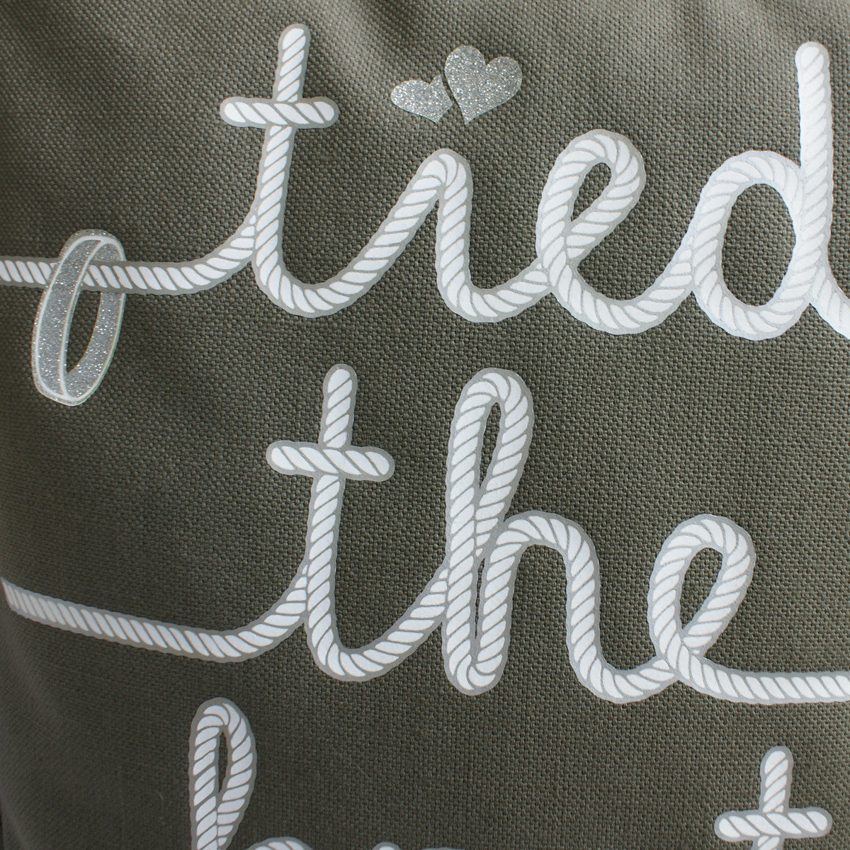 Brit and Bee Wedding Knot Throw Pillow - DETAIL