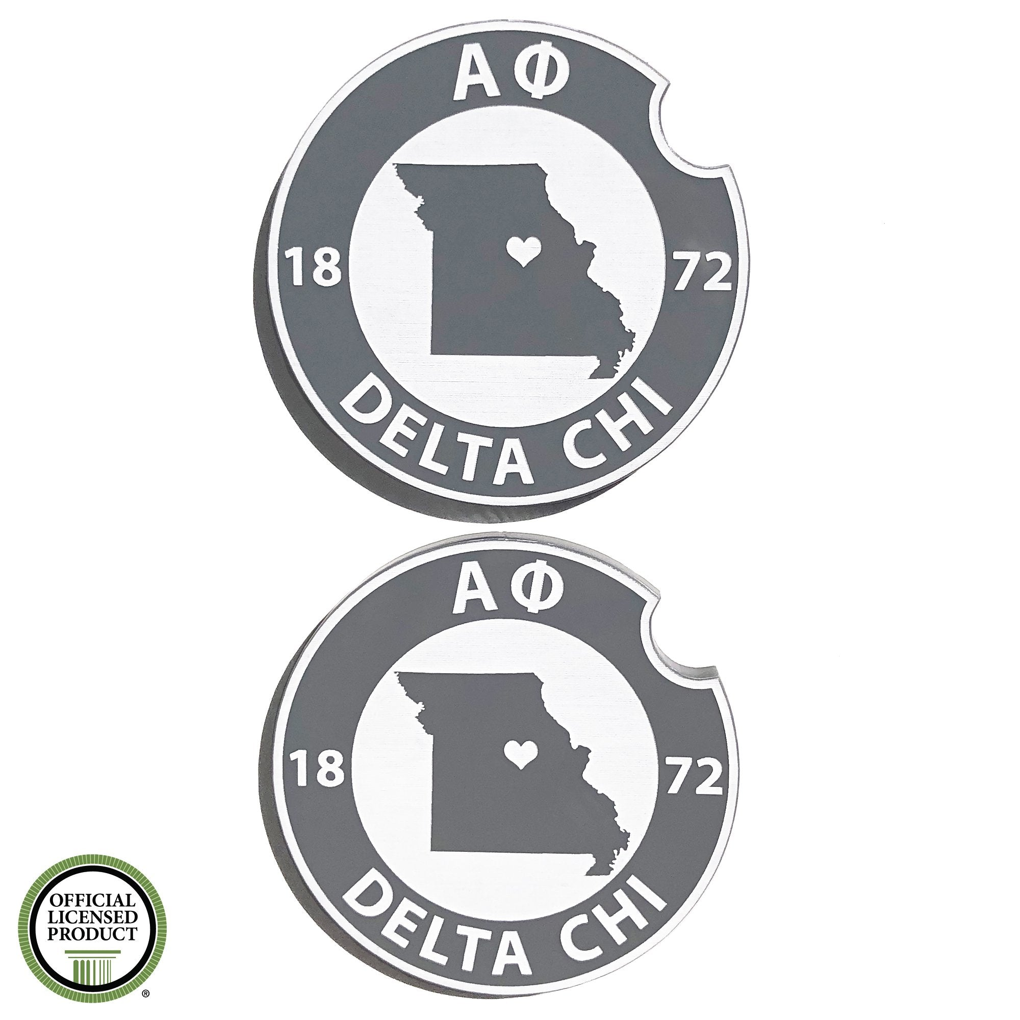 Brit and Bee Sorority Car Coasters - Alpha Phi