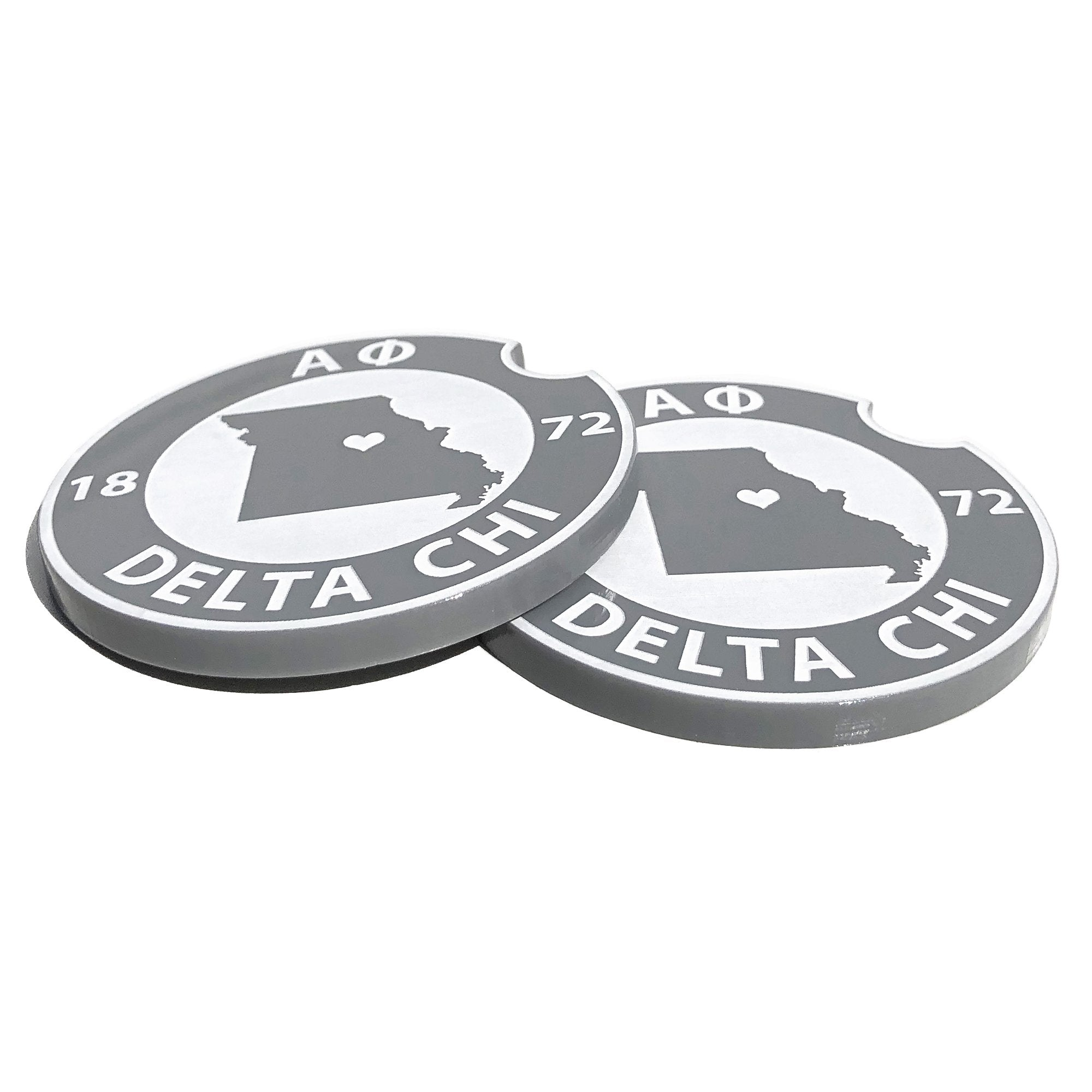 Alpha Phi Car Coasters | Brit and Bee