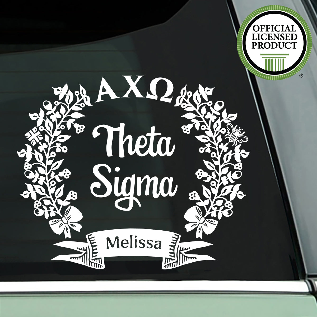 Brit and Bee Sorority Chapter Decal - Alpha Chi Omega