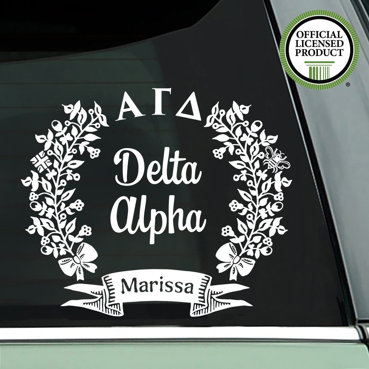 Alpha Gamma Delta Decal - Sorority Chapter