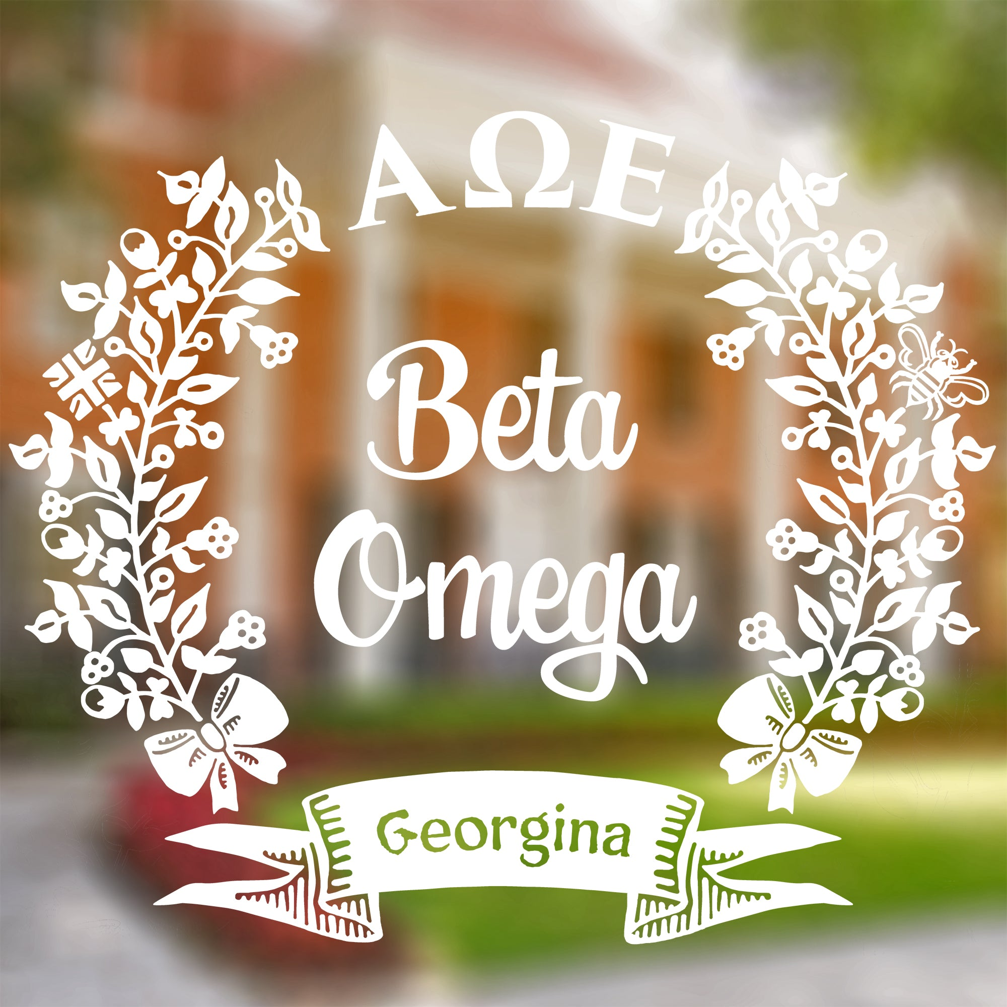 Alpha Omega Epsilon | Chapter Decal | Brit and Bee