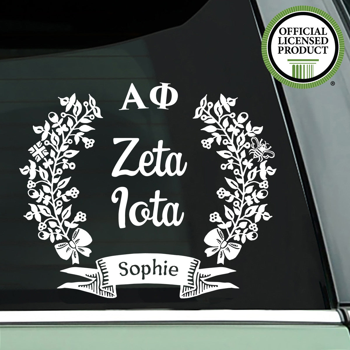 Brit and Bee Sorority Chapter Decal - Alpha Phi