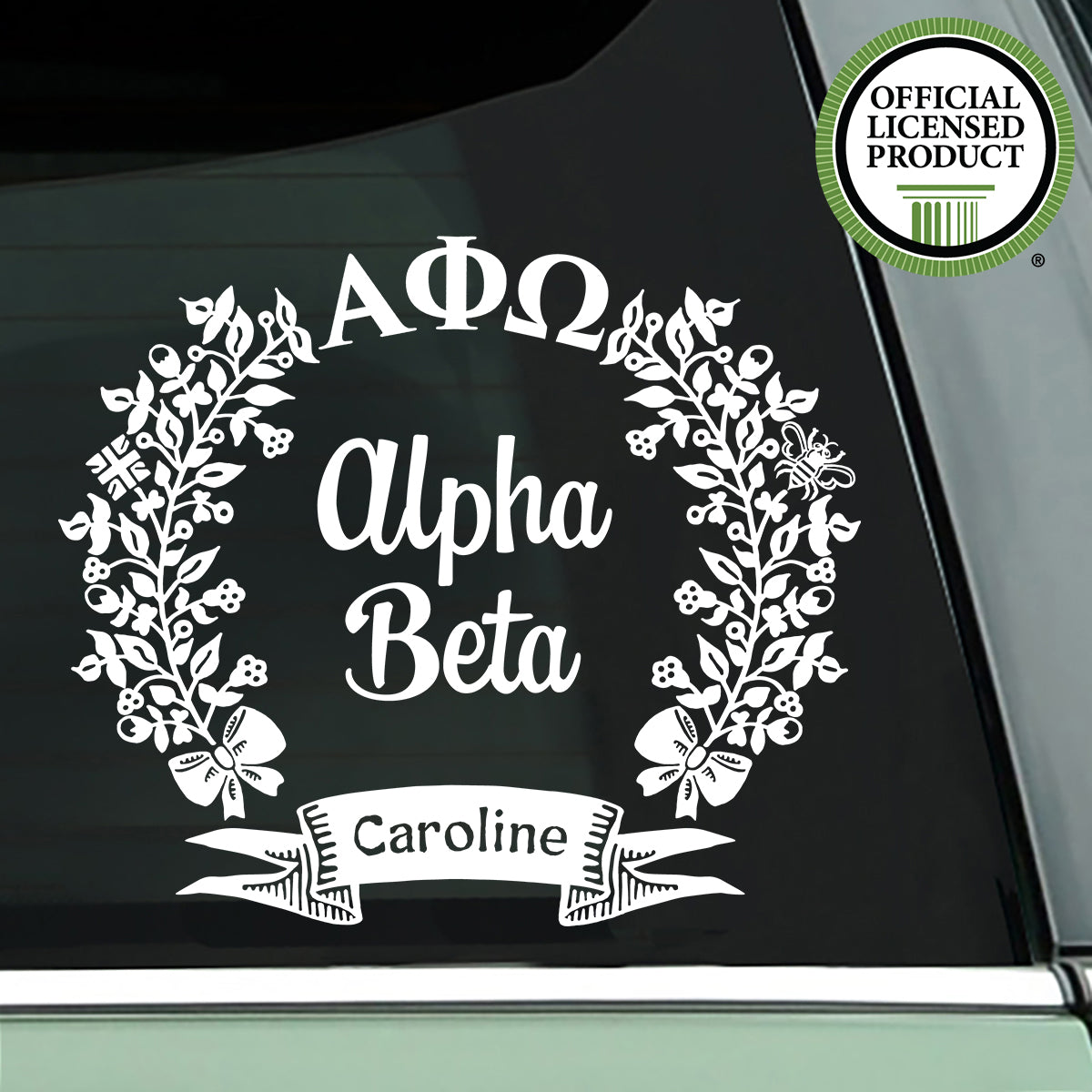 Brit and Bee Sorority Chapter Decal - Alpha Phi Omega