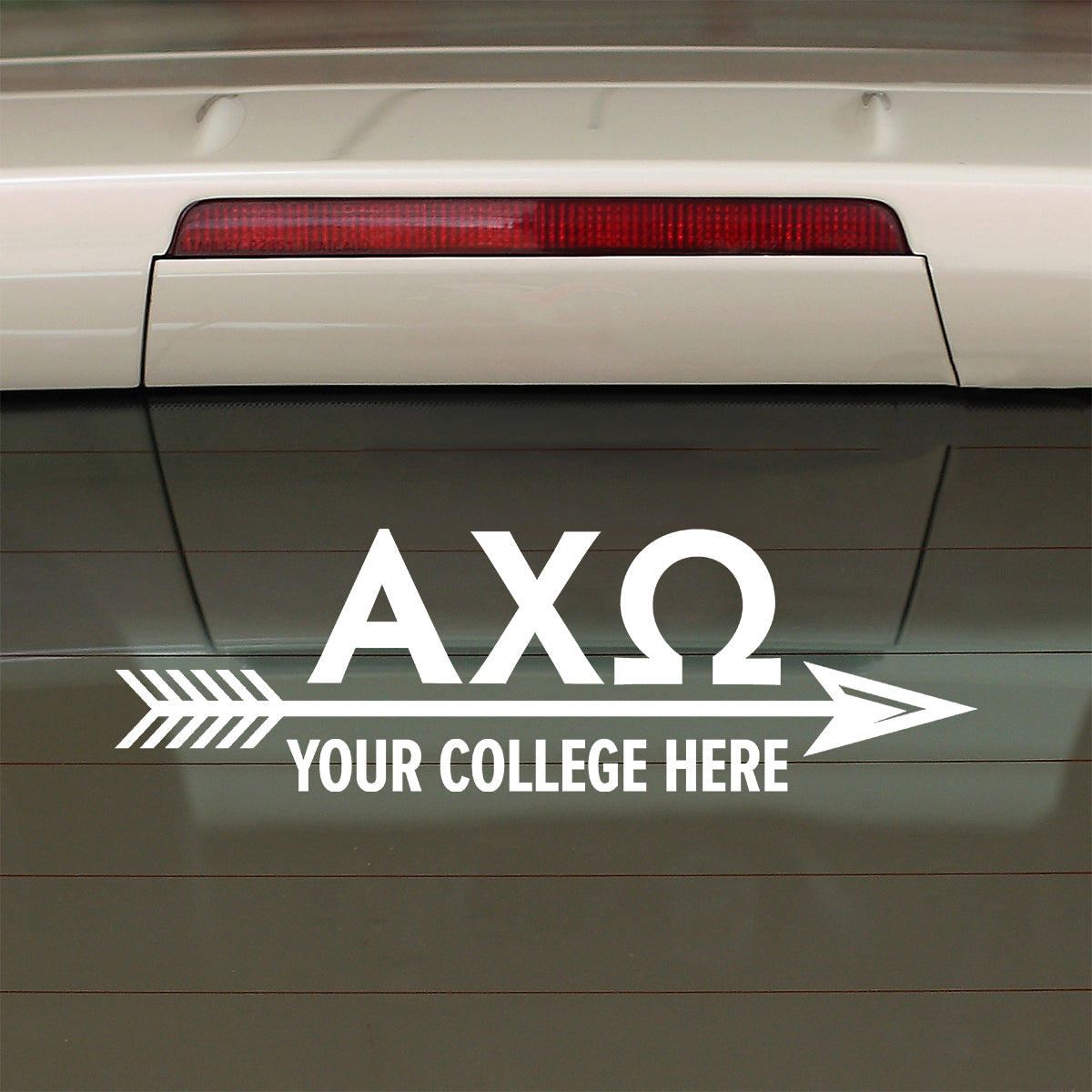 Brit and Bee Sorority Arrow Decal - Alpha Chi Omega