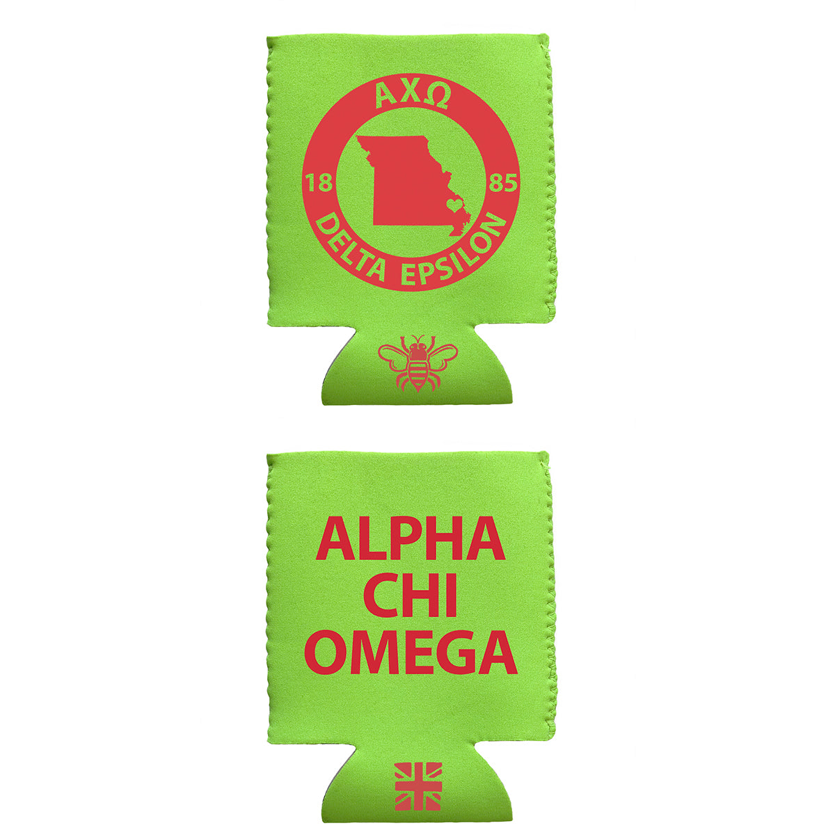 Brit and Bee Coozie - Alpha Chi Omega