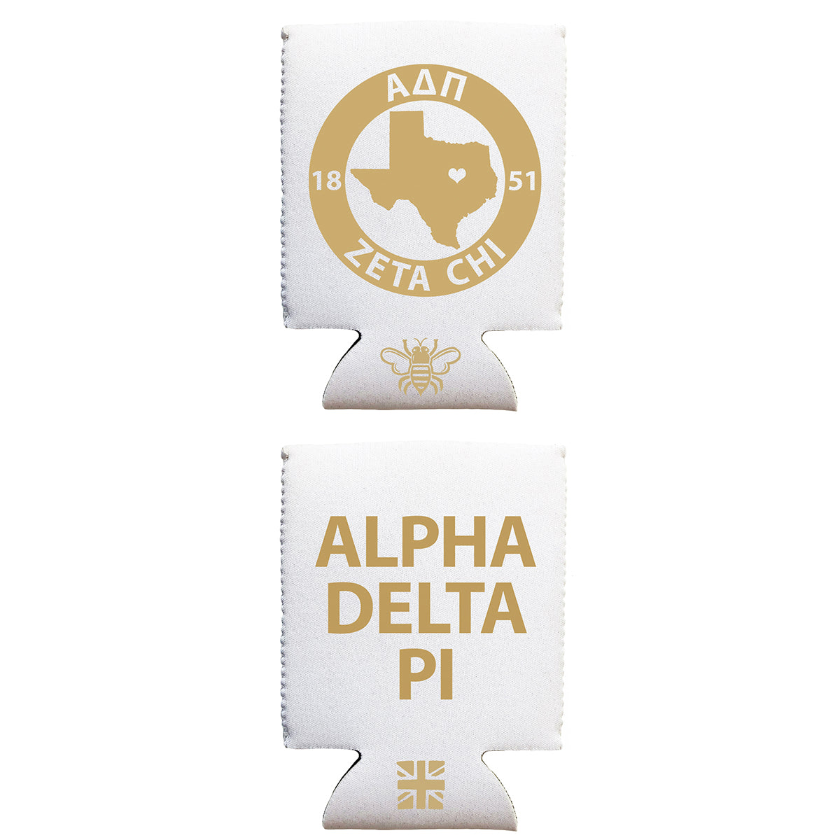 Brit and Bee Coozie - Alpha Delta Pi