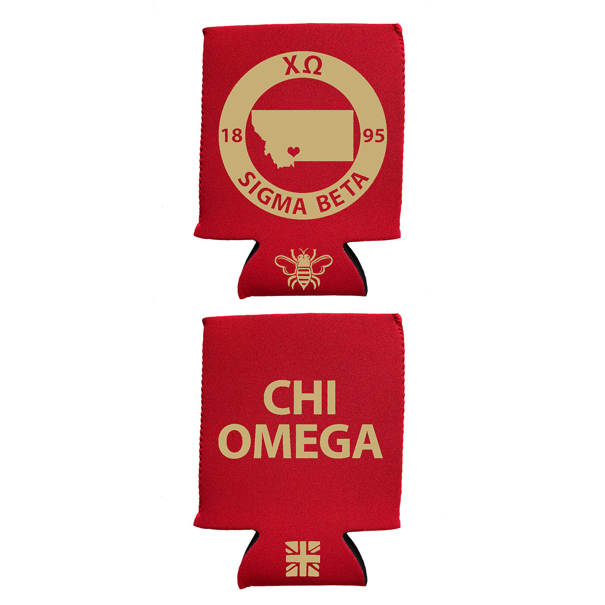 Brit and Bee Coozie - Chi Omega
