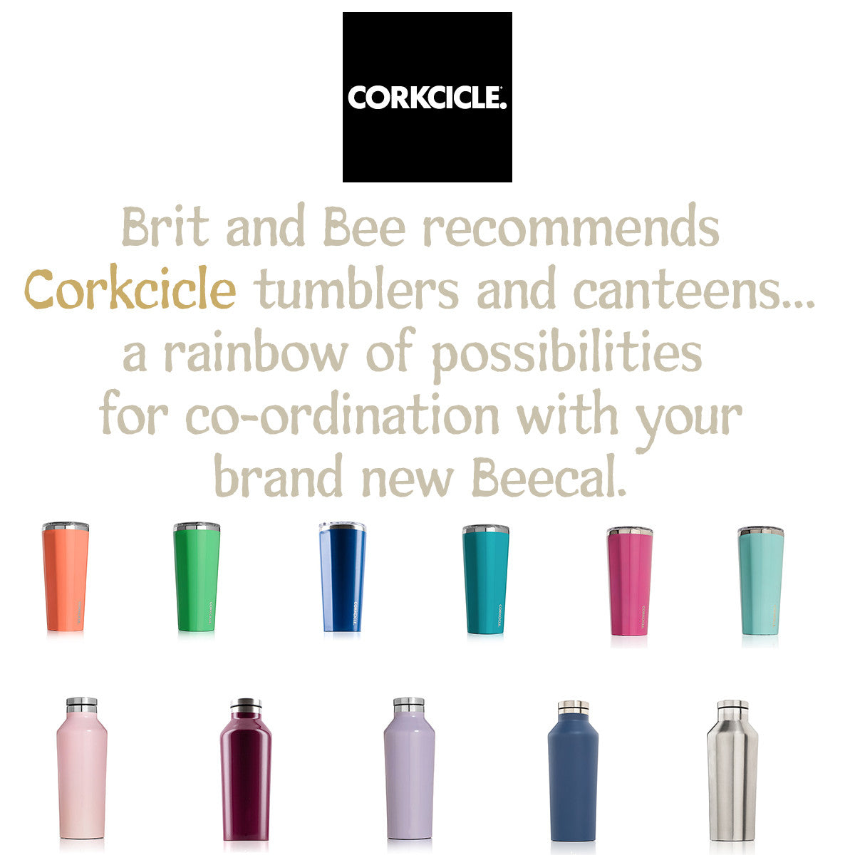 Brit and Bee recommends Corkcicle tumblers and canteens