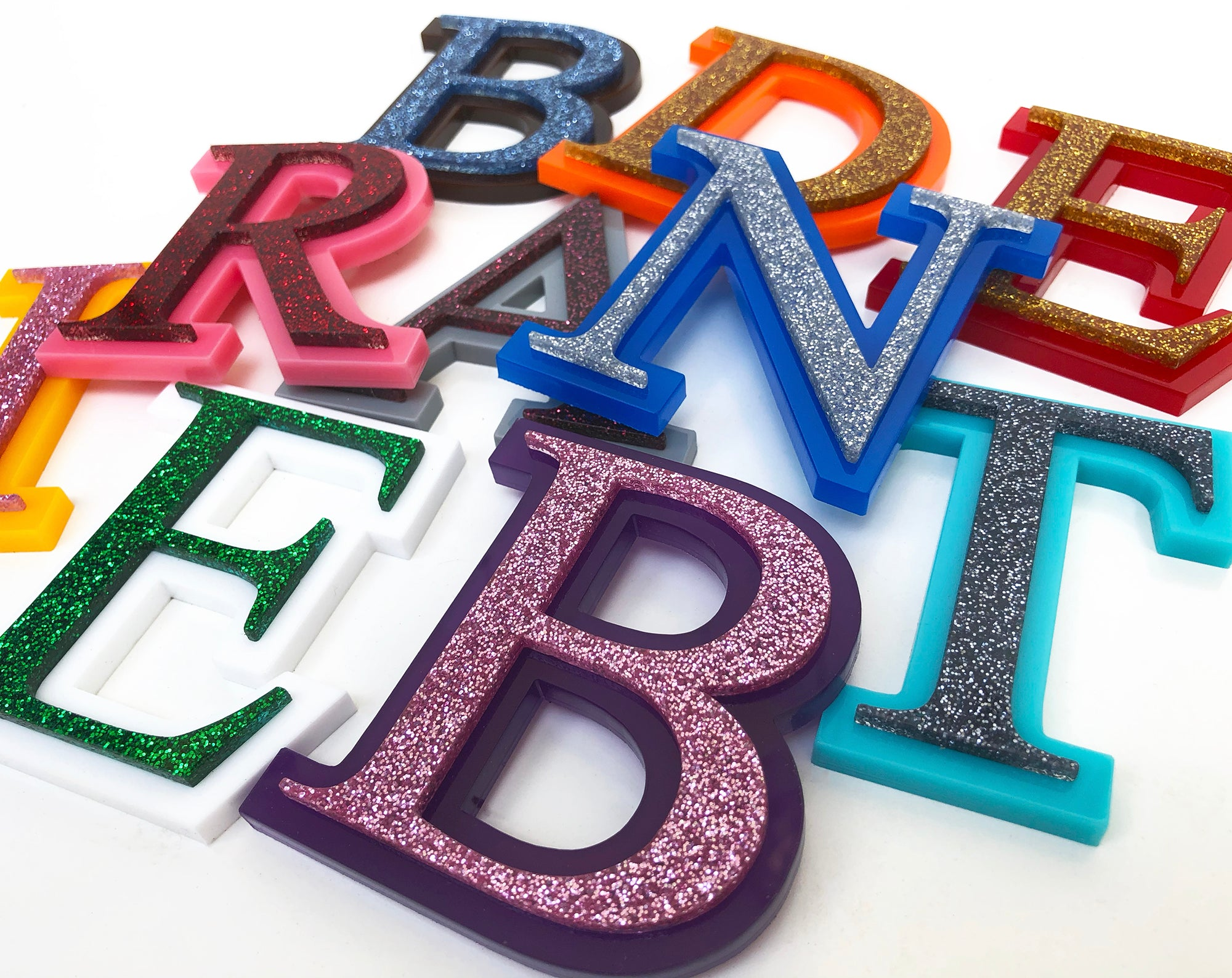 Glitter English Letters | Brit and Bee